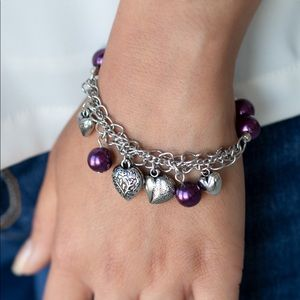 Paparazzi More Amour Purple Bracelet